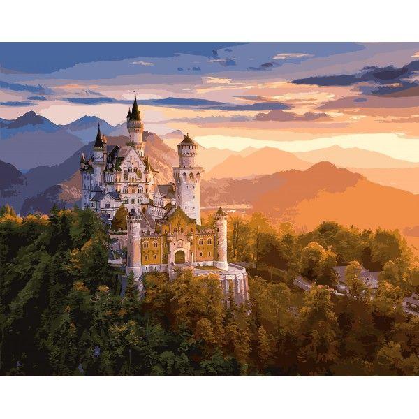 Картина по номерам Замок в лучах заката