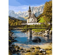 Картина по номерам Альпийская часовня