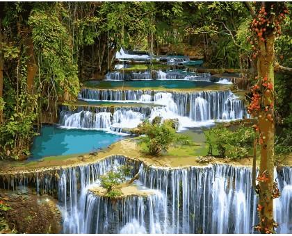 Картина по номерам Тропический водопад