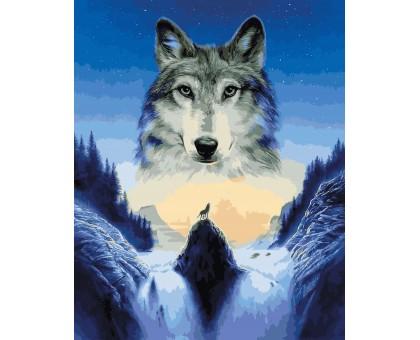 Картина по номерам Лунный волк