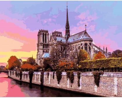 Картина по номерам Рассвет над собором Парижской Богоматери