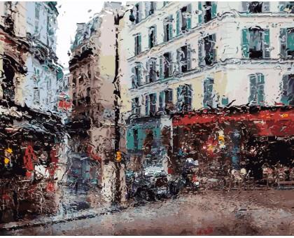 Картина по номерам Город под дождем