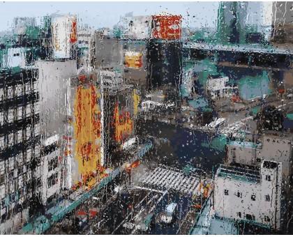 Картина по номерам Дождь в мегаполисе