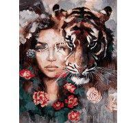 Картина по номерам Глаза тигра