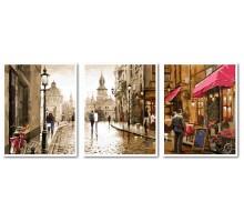 Картина по номерам Триптих. Краски вечернего города