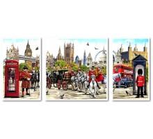 Картина по номерам Триптих Очарование Англии