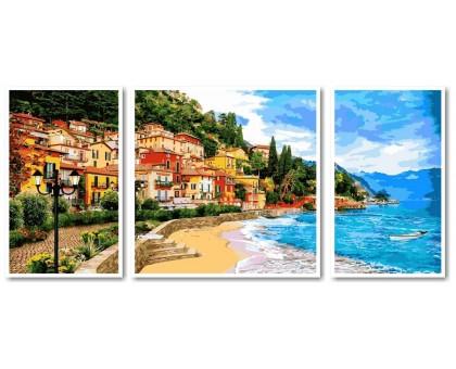 Картина по номерам Триптих. Город у моря