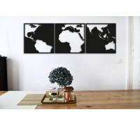 Картина из дерева Map of contrast
