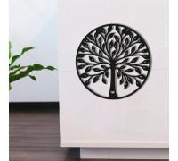 Картина из дерева Round Tree