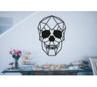 Картина из дерева Skull