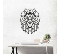 Картина из дерева Lion