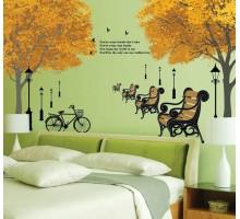 """Интерьерная наклейка на стену """"Осень"""""""