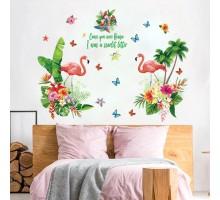 """Виниловая наклейка на стену """"Фламинго"""""""