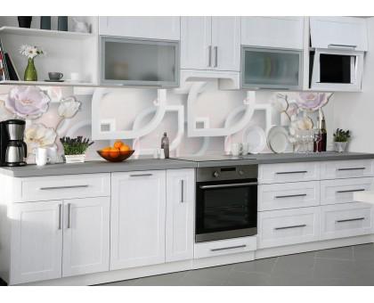 "Кухонный фартук Zatarga ""Разнообразие"" 600 х 2500 мм серый"