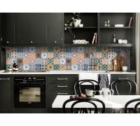 "Кухонный фартук Zatarga ""Орнамент 02"" 600 х 2500 мм синий"